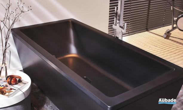Baignoire double noire rectangulaire bain à deux Conoduo de Kaldewei