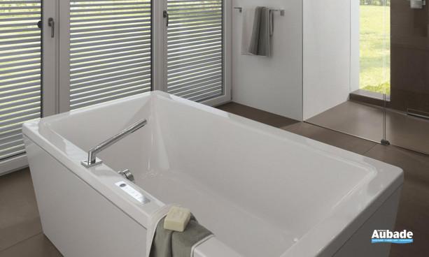 Baignoire double rectangulaire blanche bain à deux Conoduo de Kaldewei