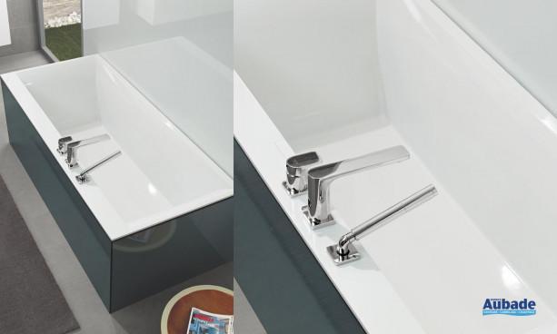 Baignoire Design minimalisme Squaro Edge de Villeroy et Boch version à encastrer