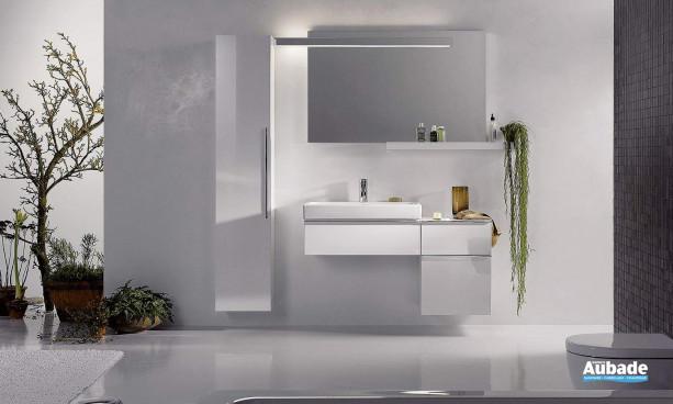 meuble de salle de bains blanc Allia Lovely