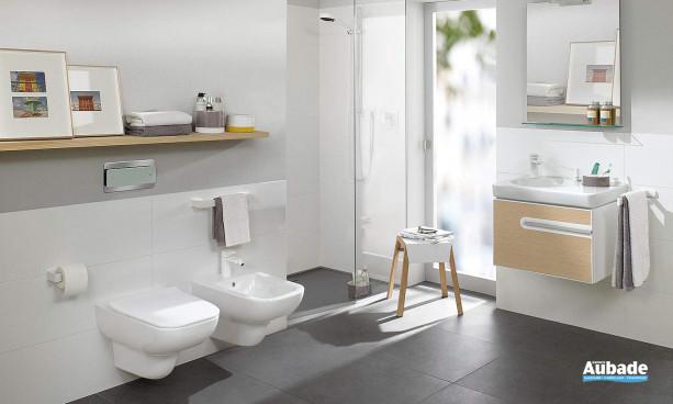 wc suspendus et meuble sous vasque Joyce de Villeroy & Boch