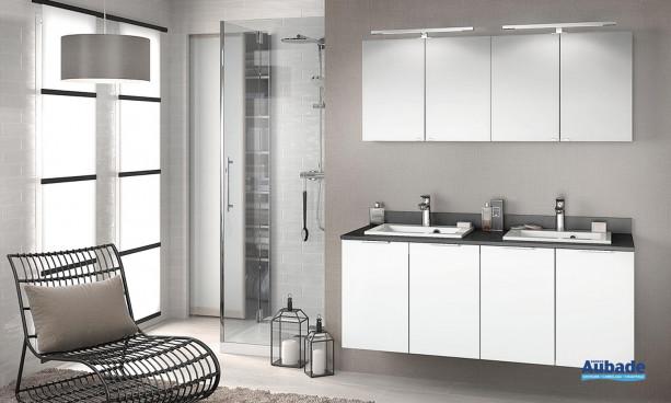 Meuble salle de bain Delphy Evolution EP140SL 1