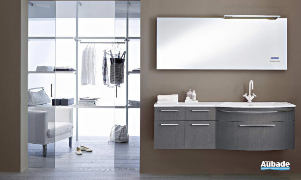 ensemble meuble et miroir stocco collection Vela