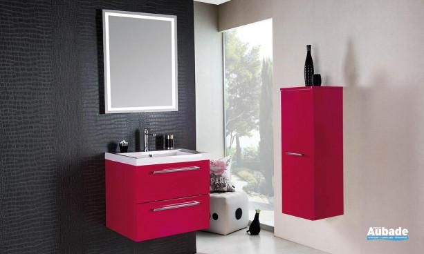 petit meuble sous vasque et rangement mural de salle de bains cedam Gloss