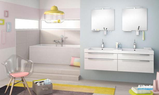 Meuble salle de bains togo blanc Inspirations Urbain | Espace Aubade