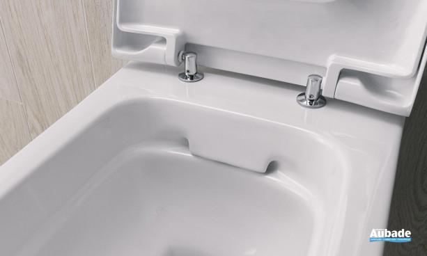 Pack WC au sol Arum Rimfree sans bride avec abattant à fermeture ralentie blanc par Arum