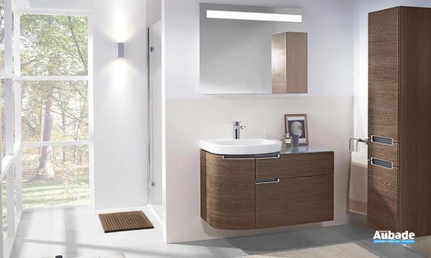 ensemble meubles sous vasque 2 tiroirs et miroir éclairant Villeroy et Boch Subway 2.0