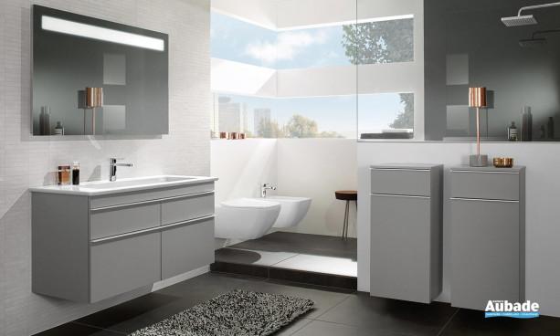 Meuble de salle de bain Venticello gris