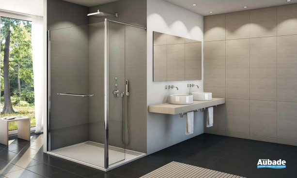 Paroi de douche très tendance et minimaliste SanSwiss Fun Duo