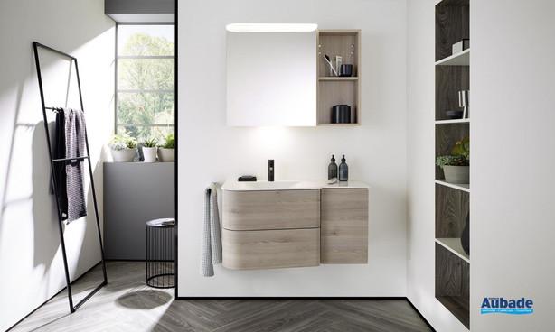 Meuble de salle de bain Badu de Burgbad 1 - Finition thermoformé Chêne, décor Flanelle