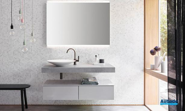 Burgbad Meuble de salle de bains Sana Gris Béton 1
