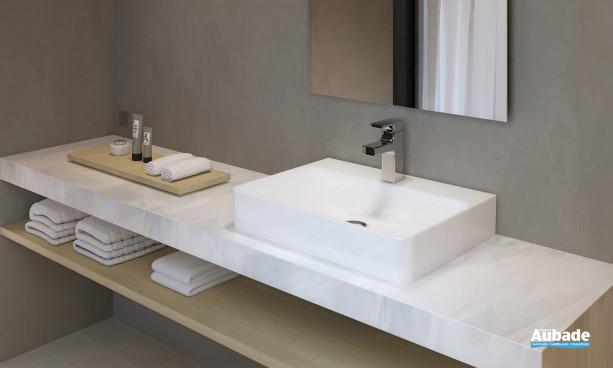 Vasque à poser 60 x 45 cm avec plage de robinetterie Vox de Jacob Delafon