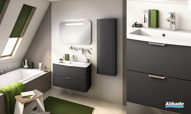 Meuble de salle de bains graphite infini Gala 85 de Delpha