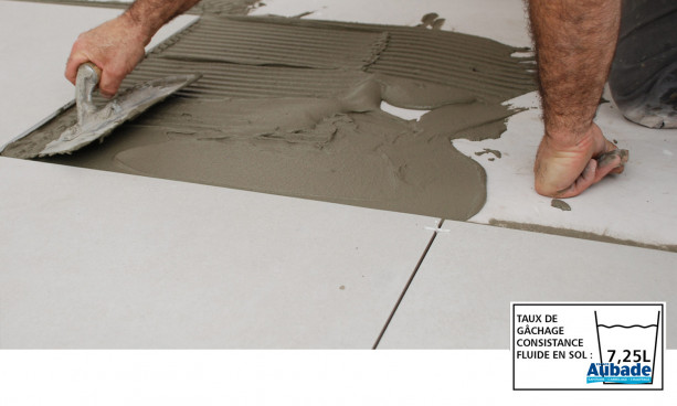 Mortier colle Carroflex DTG de Cegecol - Application simple encollage