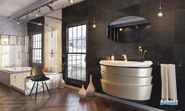 Meuble salle de bains en forme de spirale Virtuose de Decotec