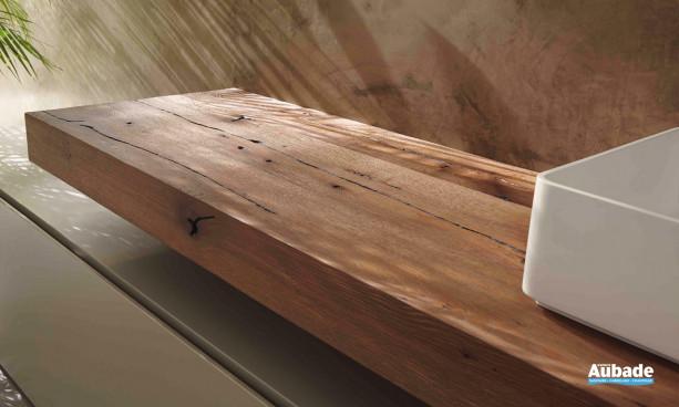 Console en bois meuble pour salle de bain thermo-traité