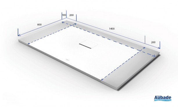 Dimensions du receveur de douche Squaro Infinity de Villeroy & Boch