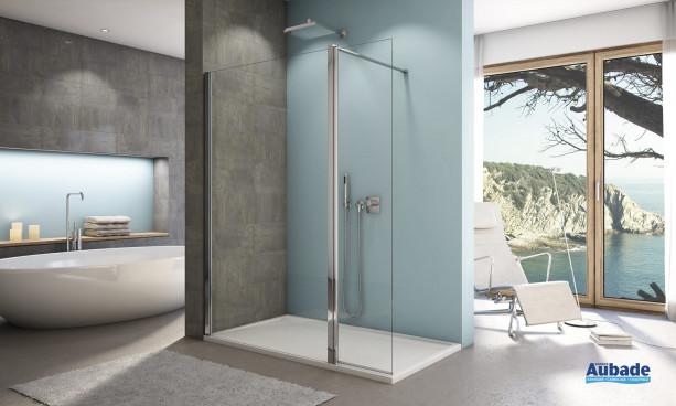 paroi de douche design aupf sanswiss espace aubade. Black Bedroom Furniture Sets. Home Design Ideas