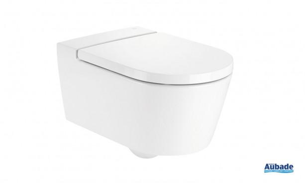Cuvette de WC suspendue Clean-Rim, sans bride Round, Inspira de Roca