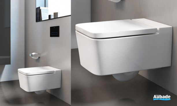 Cuvette de WC suspendue Rimless Inspira Square de Roca