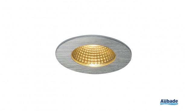 Luminaire encastré Patta-I de SLV - Rond alu brossé