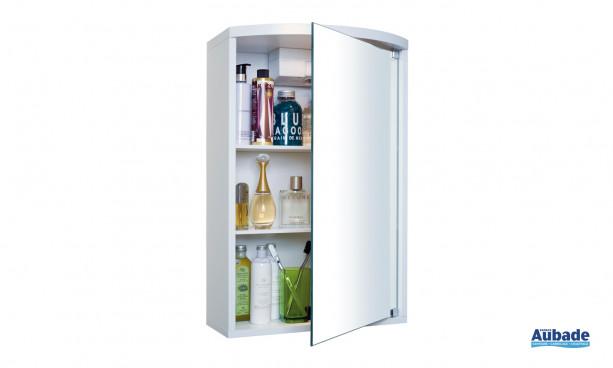 Armoire de toilette tendance Maxi de Decotec comportant 1 porte miroir, 2 tablettes, éclairage halogène