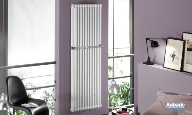 Radiateur Téolys Vertical de Finimetal version verticale avec barre sèche-serviettes