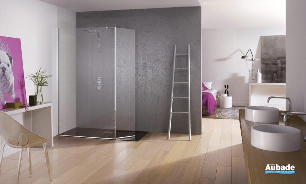 paroi de douche en verre design Kinespace ouvert de Kinedo