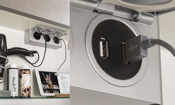 Boitier 2 prises et 2 prises USB de Delpha