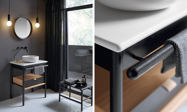 Meubles de salle de bains noir Mya de la marque Burgbad