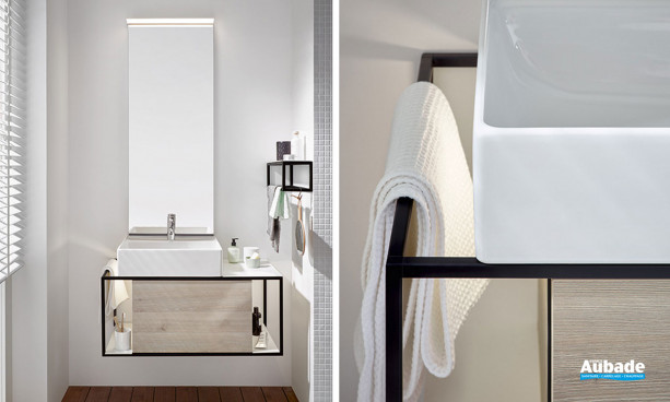 Meubles de salle de bains Junit finition beige de la marque Burgbad