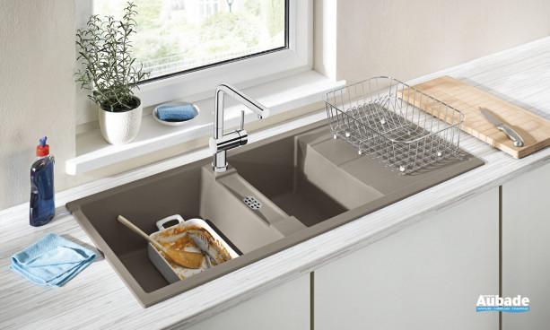 Evier sous meuble design avec deux cuves Blanco Metra 8S de Blanco