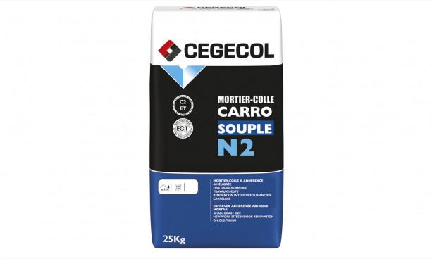 Mortier-colle à adhérence améliorée Carrosouple N2 de Cégécol