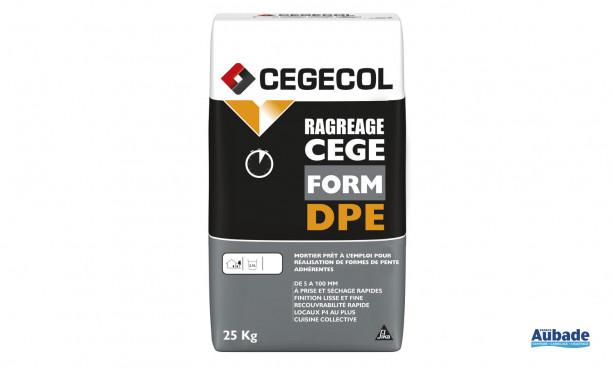 Mortier prêt à l'emploi pour réalisation de formes de pente Cegeform DPE de Cegecol