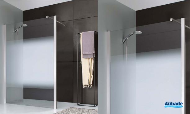 Paroi de douche Jazz + par Leda avec vitrage dépoli dégradé