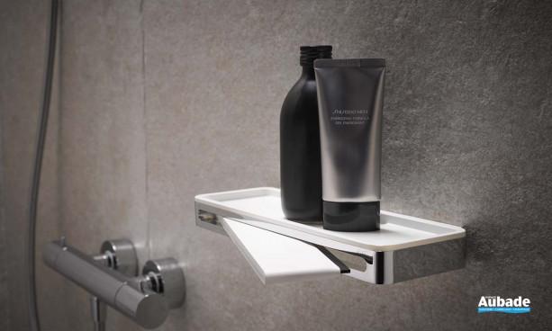 accessoire salle de bain keuco porte flacons raclette plan