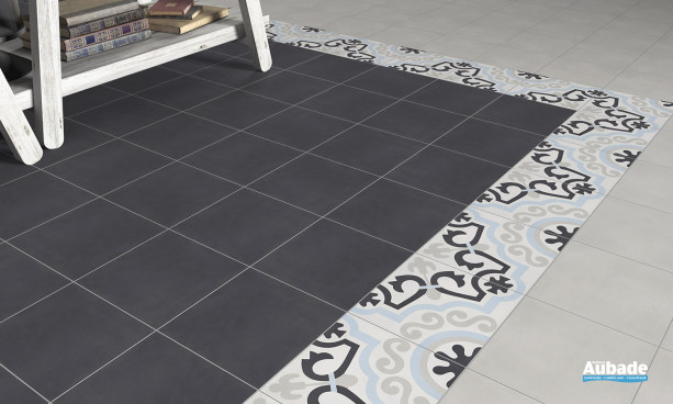 Carrelage brun_chocolat Bati-orient Carreaux ciment