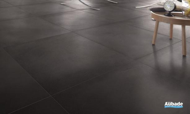 Carrelage noir Desvres ciment
