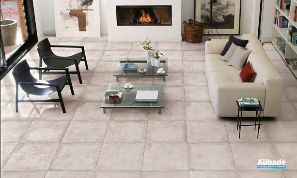 Carrelage blanc_ivoire Desvres ciment