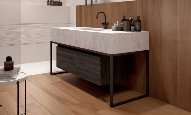 Carrelage Plain White marca-corona 4D