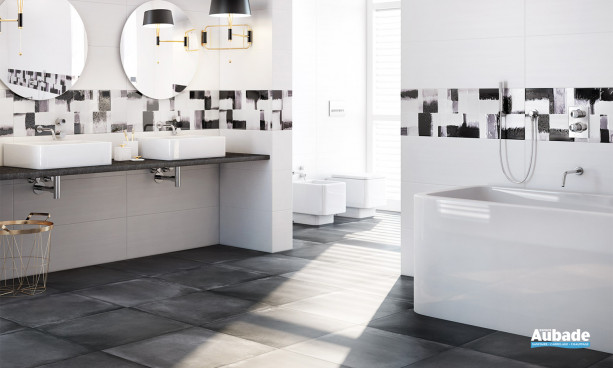 Carrelage salle de bain noir Roca Derby
