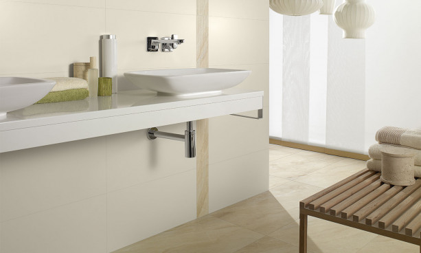 Collection Melrose par Villeroy & Bosh en teinte beige
