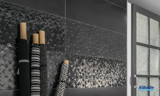 Carrelage noir Villeroy & Boch Monochrome Magic