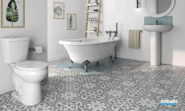 Collection  Inspiration Ciment par Bati-Orient en coloris Blanc Cassé, Gris Foncé, Bleu