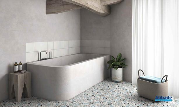 Collection  Inspiration Ciment par Bati-Orient en coloris Bleu, Anthracite, Blanc Cassé, Gris Clair