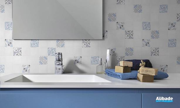 Collection Patchwork par Bati-Orient en coloris Bleu/Blanc