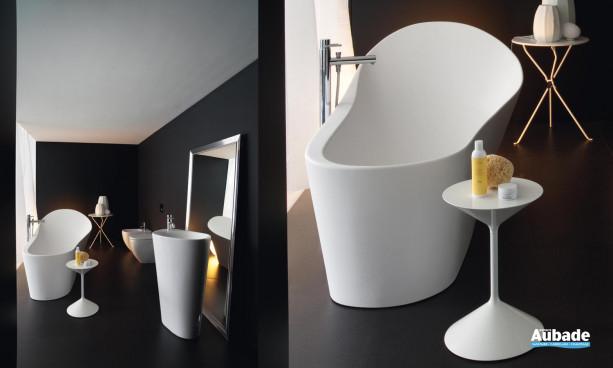 lavabo Menhir et baignoire balnéo collection Palomba de Laufen