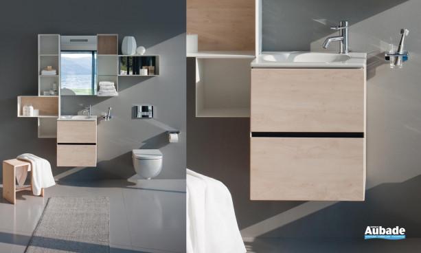 WC suspendu, lavabo céramique meuble de la collection Palomba Laufen