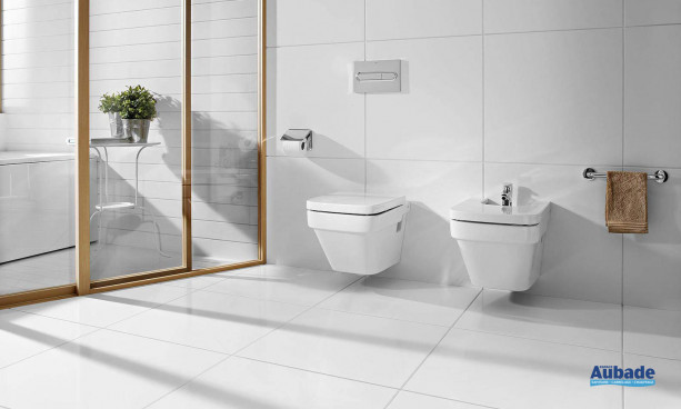 WC et bidet suspendus en porcelaine collection Dama-N de Roca
