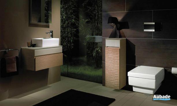 lavabo et bidet blancs et carrés Villeroy & Boch de la collection Memento